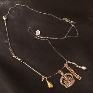 Juicy Couture necklace with multi pendants